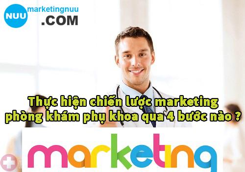 Thực hiệnchiến lược marketing phòng khám phụ khoa qua 4 bước nào ?
